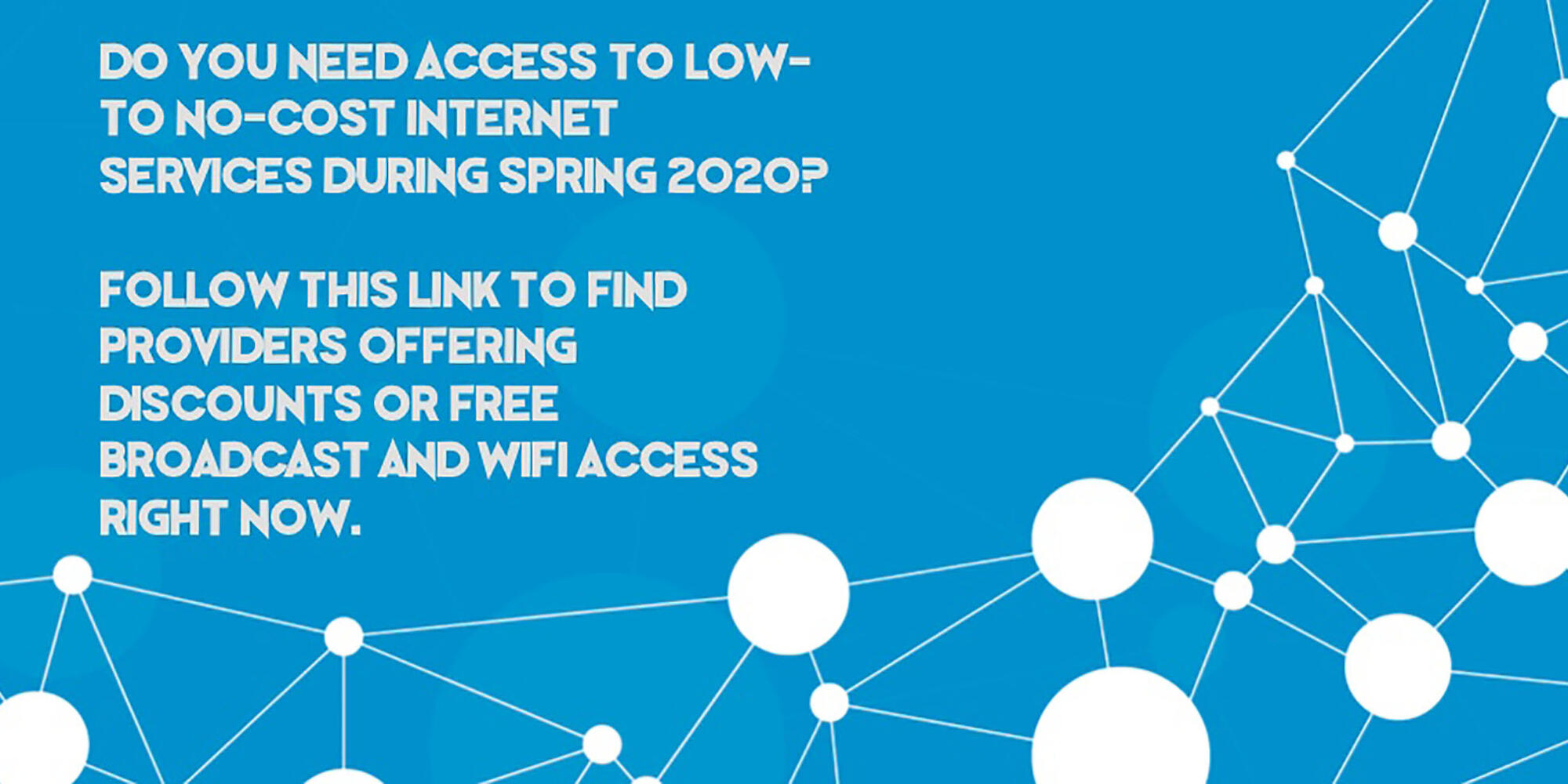 Low to No-Cost Internet Services